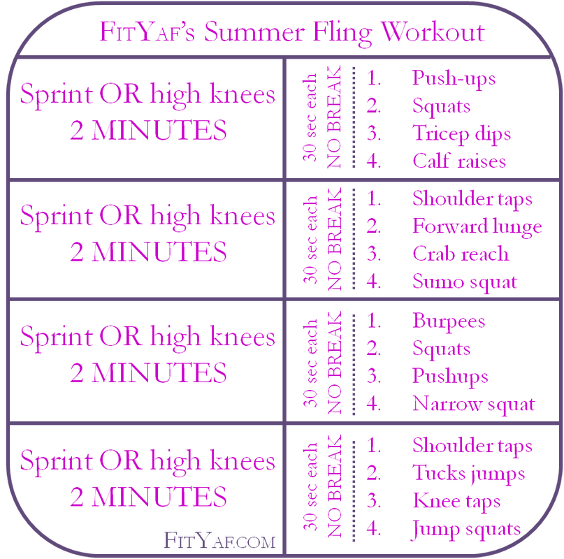 Summer Fling Fitness Friday Workout