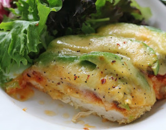 Avocado Chicken Parmesan with Green