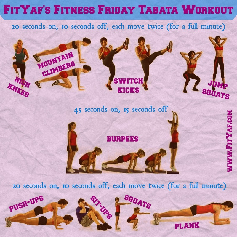 FitYaf's Fitness Friday Tabata Workout