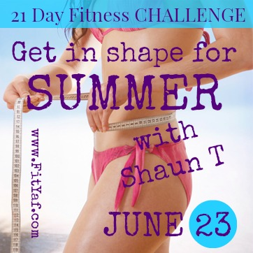 FitYaf's Summer Fitness Challenge with Shaun T