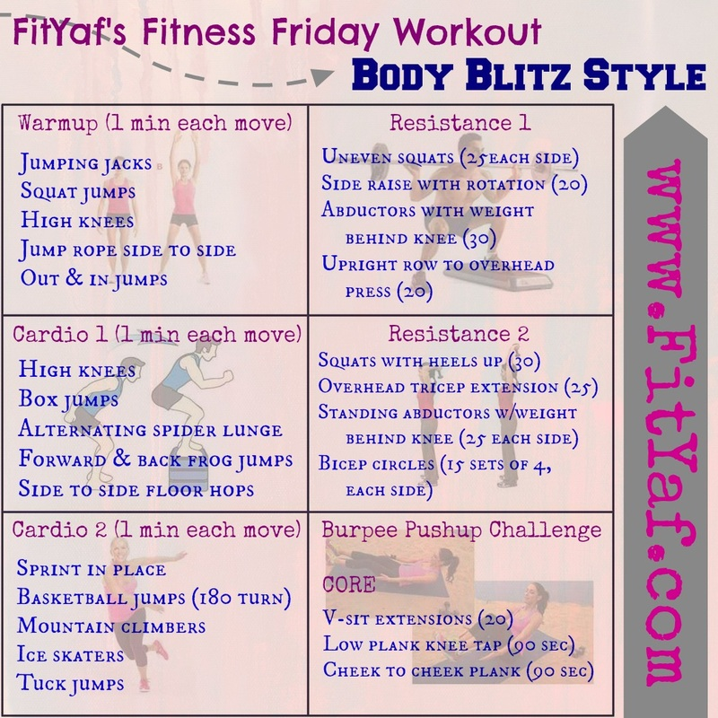 A Fitness Friday Survey - FitYaf's Body Blitz style workout