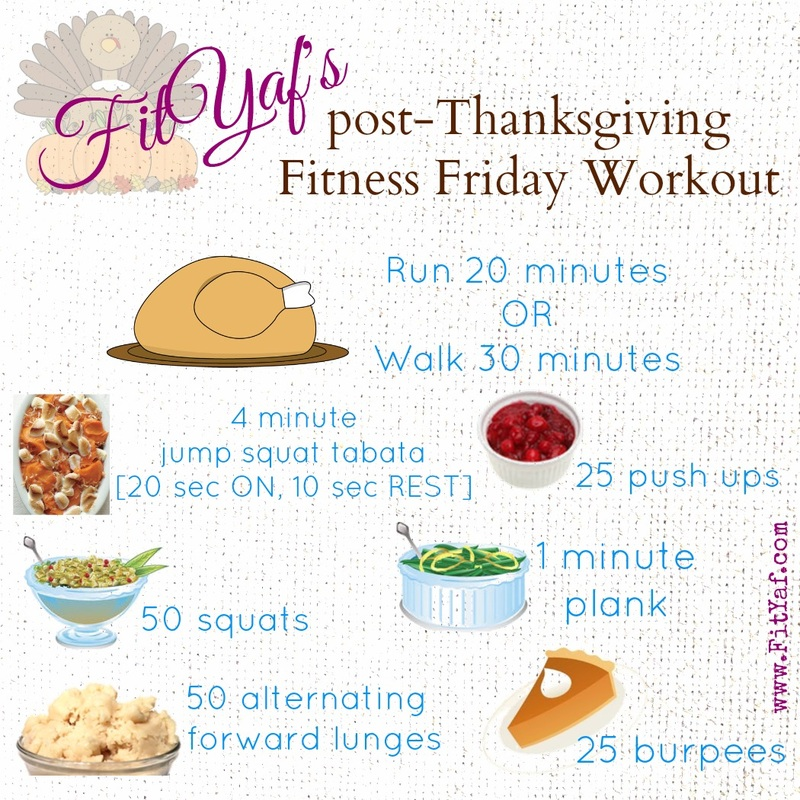 FitYa'fs Post-Thanksgiving Fitness Friday Workout