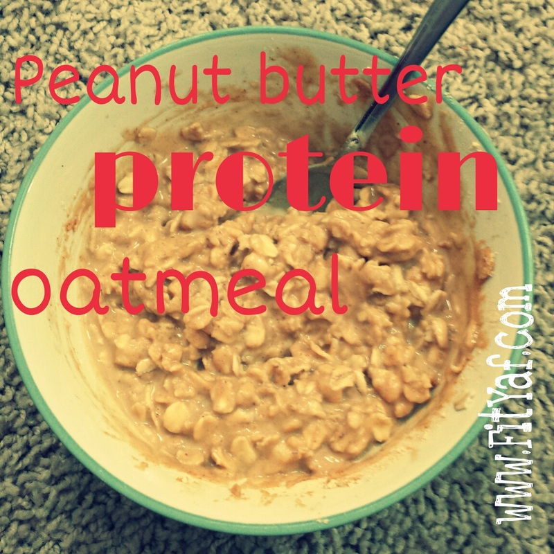 Peanut butter protein oatmeal recipe