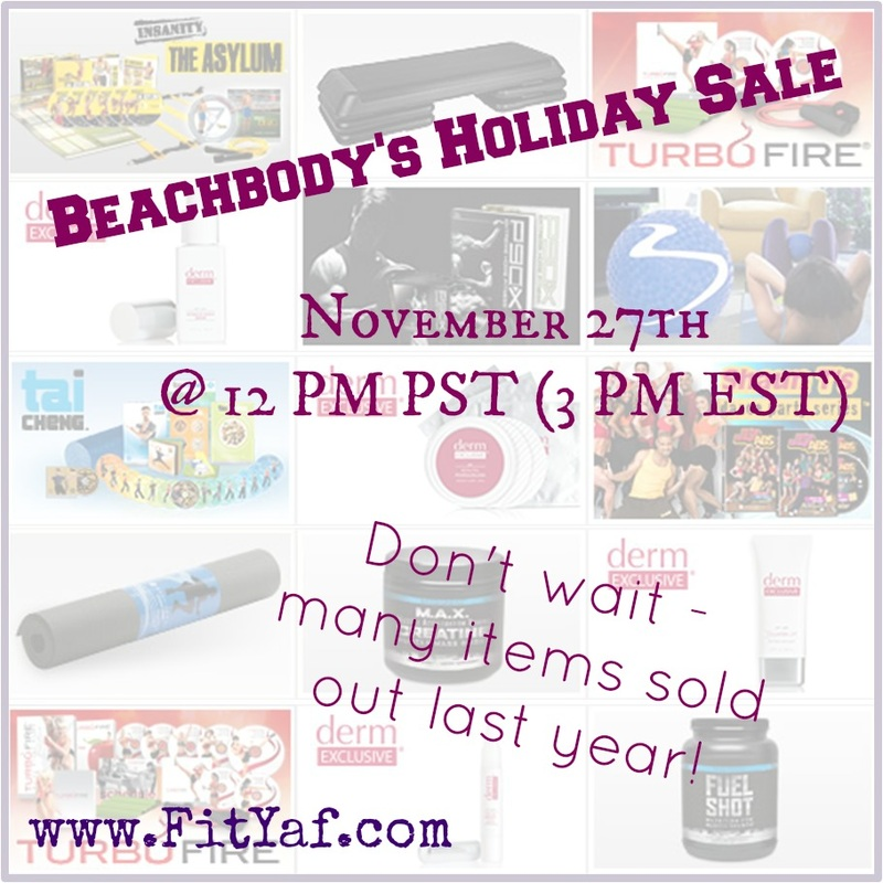 Beachbody Holiday sale - starts @ 3pm EST TODAY (11/27)! Be prepared to act fast, items may sell out!