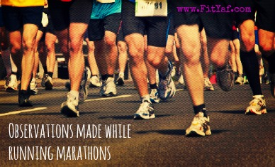 Observations made while running in marathons